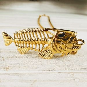 Other - Fish Bone Necklace 18kt Gold Plate
